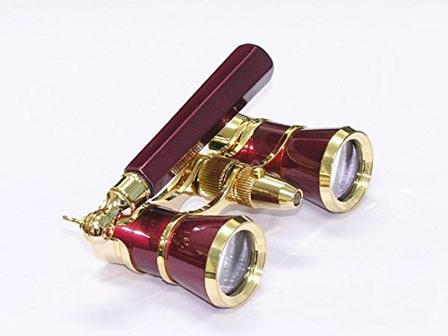 Levenhuk Broadway 325N Opera Glasses (red lorgnette with LED light) 3x with accessory kit by Levenhuk
