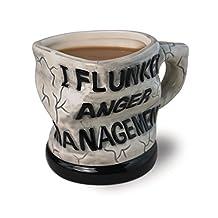 "Funny Design Ceramic Coffee Mugs ""I Flunked Anger Management"" Ceramic Coffee Cups Mug for Coffee Milk Tea and Water"