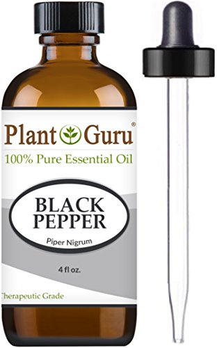 Black Pepper Essential Oil (Piper Nigrum) 4 oz. 100% Pure Undiluted Therapeutic Grade. (Black Clove Cigarettes)