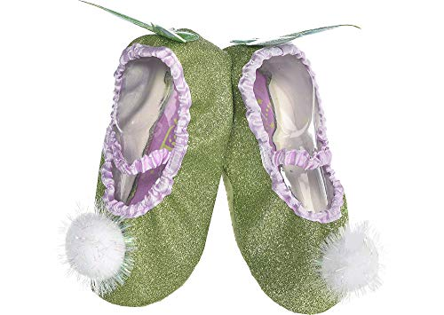Suit Yourself Tinker Bell Slipper Shoes for Kids, Peter Pan Halloween Accessories, One Size (Children Shoe Size 7-11)