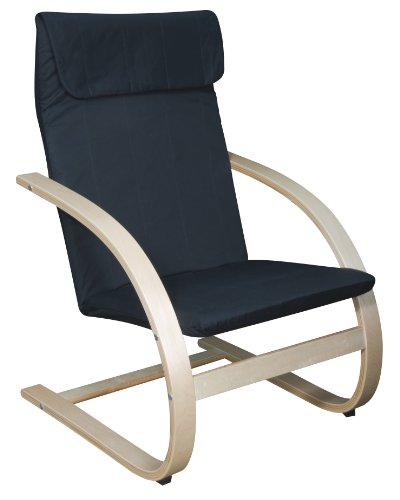 Butterfly Collection Rocking Chair - Niche 2000NTBK Mia Bentwood Reclining Lounge Chair, 26.5