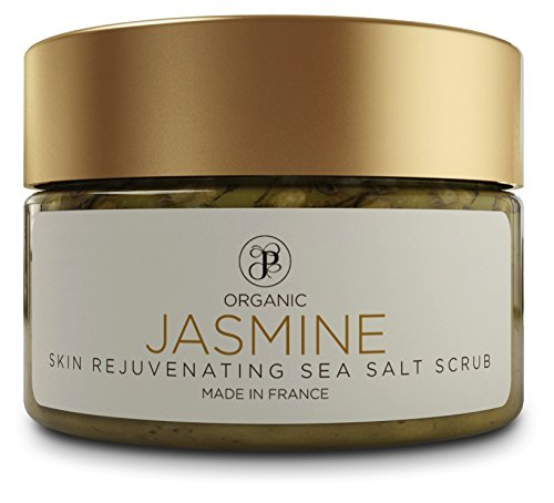 Sea Salt Body Exfoliating Scrubs for Bath and Shower. Skin Rejuvenating Spa Exfoliator Made with Essential Oils, for Women and Men. No Harmful Chemicals. Made in France. By PEAK (Jasmine, 12oz). ()
