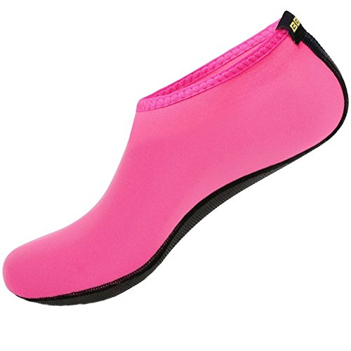 SHOESKISS Barefoot Water Skin Shoes Aqua Socks For Beach Swim Surf Yoga Exercise (XXS(US Kids:13-1), Pink)