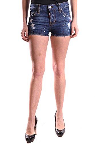 DSQUARED2 Women's MCBI107071O Blue Cotton Shorts