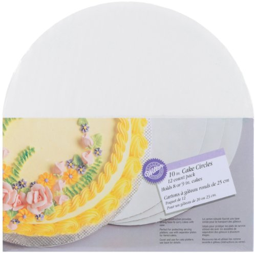 Wilton 10-Inch Cake Circle, 12-Pack (Cake Base)