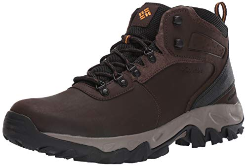 Columbia Men's Newton Ridge Plus II Waterproof Hiking Boot, Cordovan, Squash, 10.5 Regular -