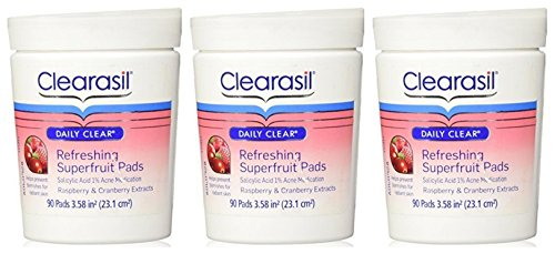 lot-of-3-clearasil-daily-clear-refreshing-superfruit-pads-90-pads-bottle-x-3-bottles