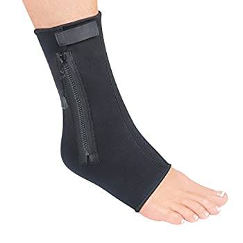 Small Form Fitting Black Ankle Zipper Compression