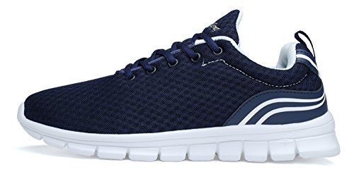 Belilent Kvinna Löparskor - Lätt Andas Athletic Skor Mode Sneakers Marin / Vit 815