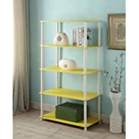Mainstays No Tools Assembly 8-Cube Shelving Storage Unit, Multiple Colors (Yellow)