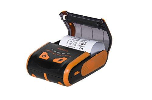 Portable Usb Printers - Rongta RPP200 Portable Mini 58mm Pocket Mobile POS Thermal Receipt Printer with Bluetooth+USB interfaces,Orange Color
