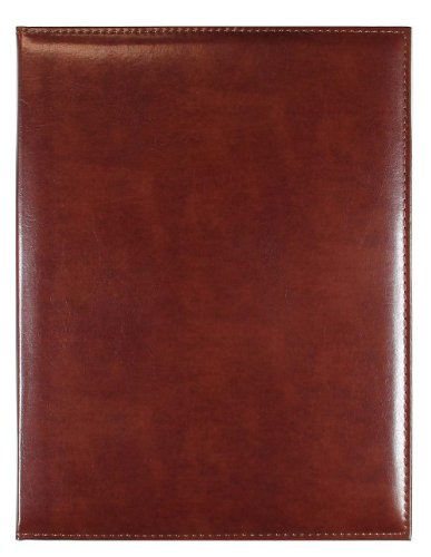 C.R. Gibson Brown Leather Padfolio with Legal Size Notepad, 9.5'' W x 12.4'' L, 40 Pages
