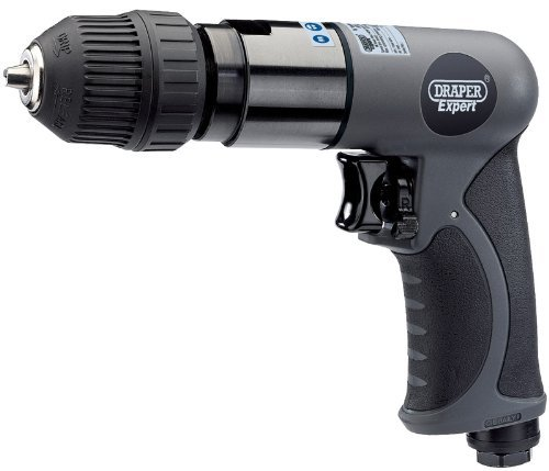 Draper 14258 3/8-inch Drive Composite Body Soft Grip Reversible Air Drill with 10mm Keyless Chuck by Draper