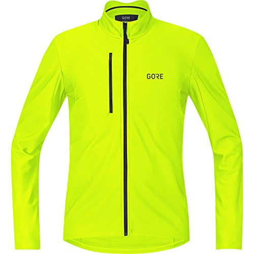 (GORE WEAR C3 Men's Long Sleeve Jersey, XL, Neon Yellow)