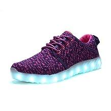 COODO CD2001 Women&Big Kids LED Light Up Shoes USB Charging Flashing Sneakers