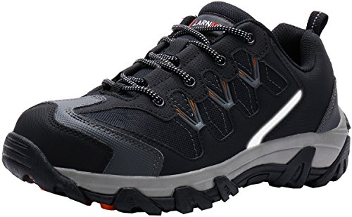 LARNMERN Mens Steel Toe Work Safety Boots Outdoor Hiking Shoes Construction Industrial Footwear