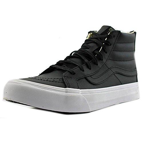dd339569ef Vans Women SK8-Hi Slim Zip (Leather) Black Gold VN000XH8FH3