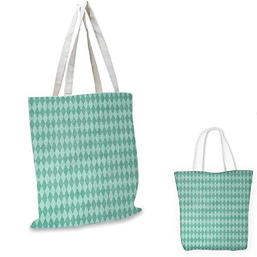 "Aqua non woven shopping bag Layers of Ocean Blue Inspired Rectangular Geometrical Tile Seem Image fruit shopping bag Turquoise and Light Blue. 16""x18""-13"""