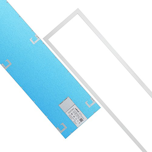 Cosmic Lighting 1ft x 4ft 32w LED Troffer Flat Panel Light Ultra Thin Commercial Drop Ceiling Edge-Lit Dimmable Lamp Fixture 4160lm 130 lm/W 5000K DLC Premium 4.2 Qualified-Pack of 2