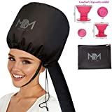 UPGRADED Soft Bonnet Hooded Hair Dryer Attachment W/ 10 Silicone...