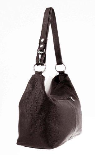 mujer oscuro marrón OBC para coñac Only cuero Beautiful cm hombro 28x24x14 Bolso Couture de BxHxT al Marrón ZzZqawF
