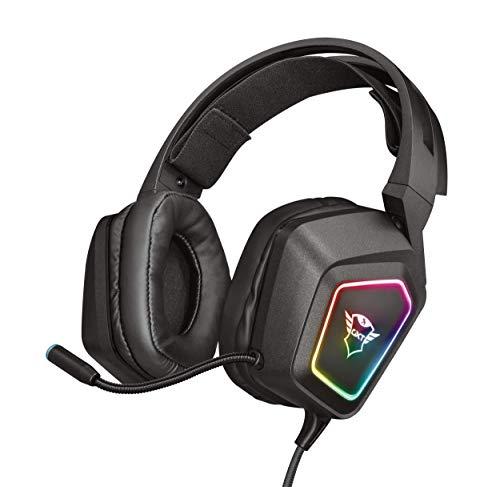 🥇 Trust GXT 450 Blizz Auriculares para Gaming RGB 7.1 con Sonido Virtual Envolvente