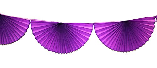 3-pack 7 Foot Tissue Paper Bunting Garland Party Decoration (Purple) -