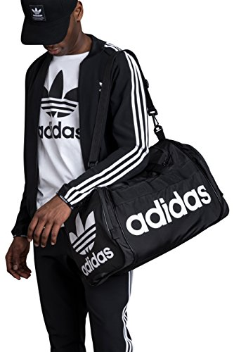 dec060527a9 SHOPUS | adidas Originals Santiago Duffel Bag, Black/White, One Size