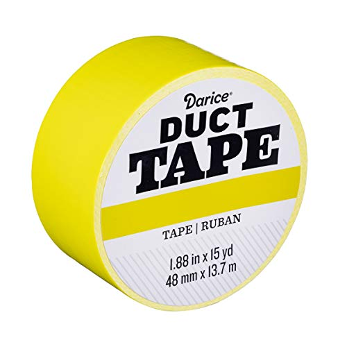 Darice 30079640 Roll: Atomic Yellow, 1.88 Inches x 15 Yards Duct Tape,