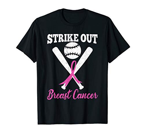 (Strike Out Breast Cancer - Pink Ribbon & Baseball tshirt)