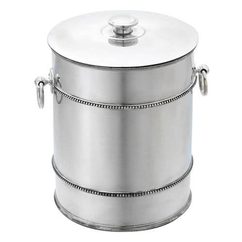 Reed & Barton 7510 Heritage Banded Bead Ice Bucket, Silver by Reed & Barton