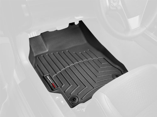 (WeatherTech Custom Fit Front FloorLiner for Acura MDX (Black))