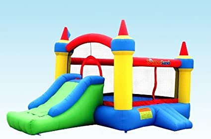 Amazon.com: bounceland Mega Castillo hinchable Bounce cámara ...