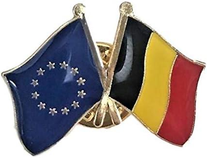 Backwoods Barnaby EU Spain Crossed Friendship Flags Lapel Pin