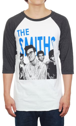The Smiths T-Shirt Alternative Rock Band New White Black 3/4 Sleeve Tee Size L ()