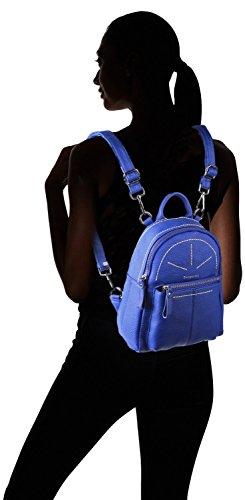 Borgasets Afra de piel pequeña mochila de la mujer, naranja (negro) - 6792389 azul