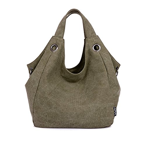 Mily Womens Simple Style Vintage Canvas Totes Hobo Handbag Shoulder Bag Jasper by Aisi