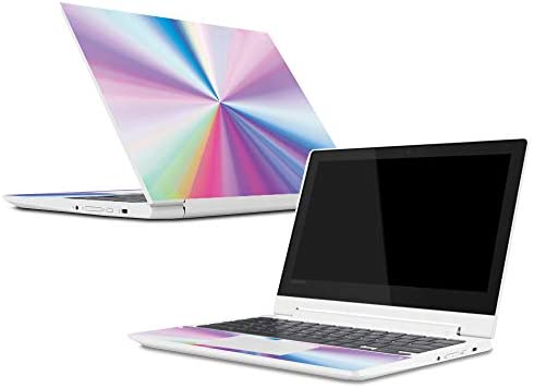 MightySkins Skin for Lenovo Chromebook C330 (2018) - Rainbow Zoom |  Protective, Durable, and Unique Vinyl Decal wrap Cover | Easy to Apply,  Remove,
