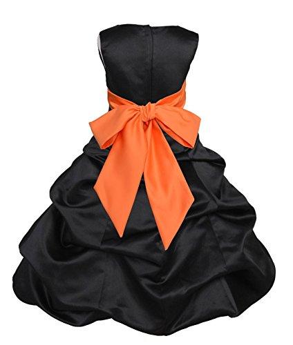 orange and black bridesmaid dresses - 1