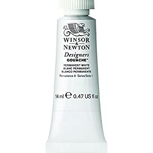 Winsor & Newton Designers Gouache Tube, 14ml, Permanent White