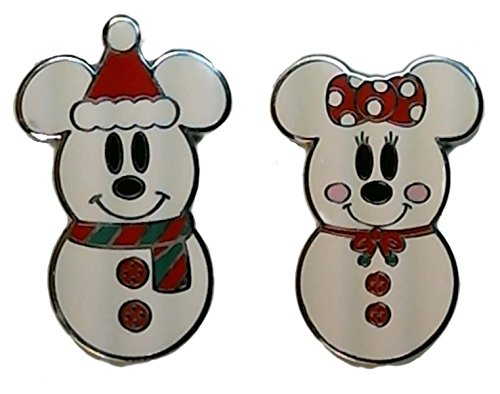 Disney Pin - Mickey Mouse and Minnie Mouse as Snowmen