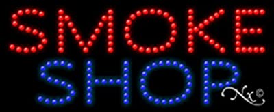 Smoke Shop Animated Flashing LED Window Sign
