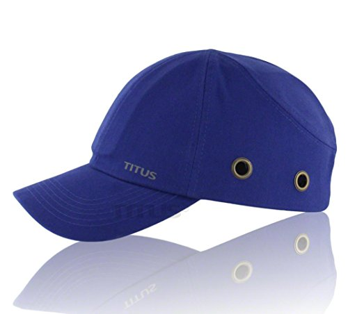 Titus Lightweight Safety Bump Cap - Baseball Style Protective Hat (Royal Blue)