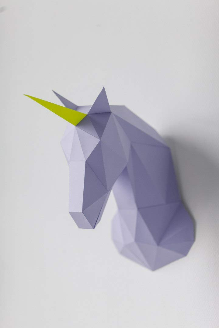 Amazon com: Unicorn Head - DIY Papercraft Kit 3D Model