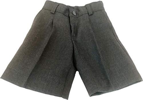 41p18 jO6rL Pantalón corto gris para uniforme escolar Fabricado en España 100% Poliéster