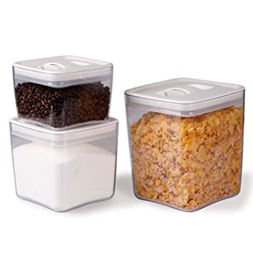 Amazoncom ClickClack Cube Storage Container Set Of And - Kitchen storage boxes