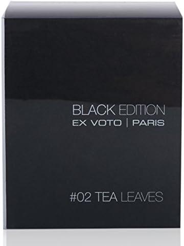 Ex voto Paris Black Edition Candela Profumata Tea Leaves, 230g