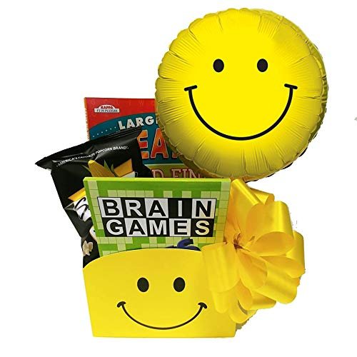 Entertaining Get Well Gift Basket: In Good Spirits Gift Box for Men and Women with Puzzle Books