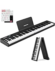 $249 » Ingbelle 88-Key Digital Piano Keyboard with Bluetooth, Foldable Electric Piano, Semi-weighted Keyboard for Teaching, Powerful Educational Features for Beginner, Sustain Pedal Include