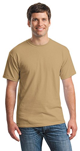 Gildan Mens Heavy Cotton 100% Cotton T-Shirt, Medium, Old Gold